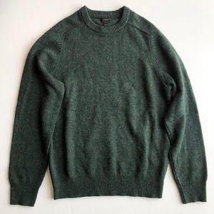 J.Crew Men's Forest Green Lambswool Sweater